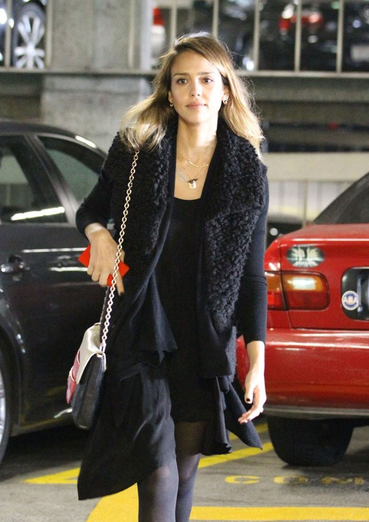 JESSICA ALBA at Cedars-Sinai Medical Center in Beverly Hills