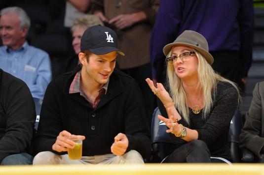 KALEY CUOCO and Ashton Kutcher