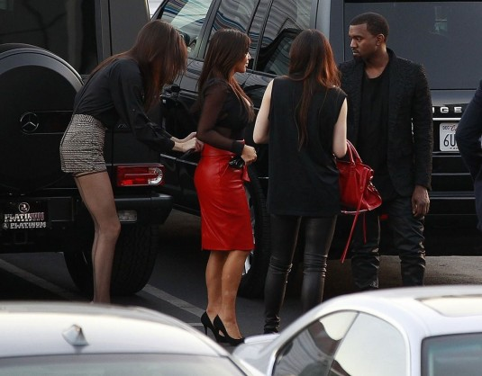 KIM KARDASHIAN, KENDAL JENNER and Kanye West