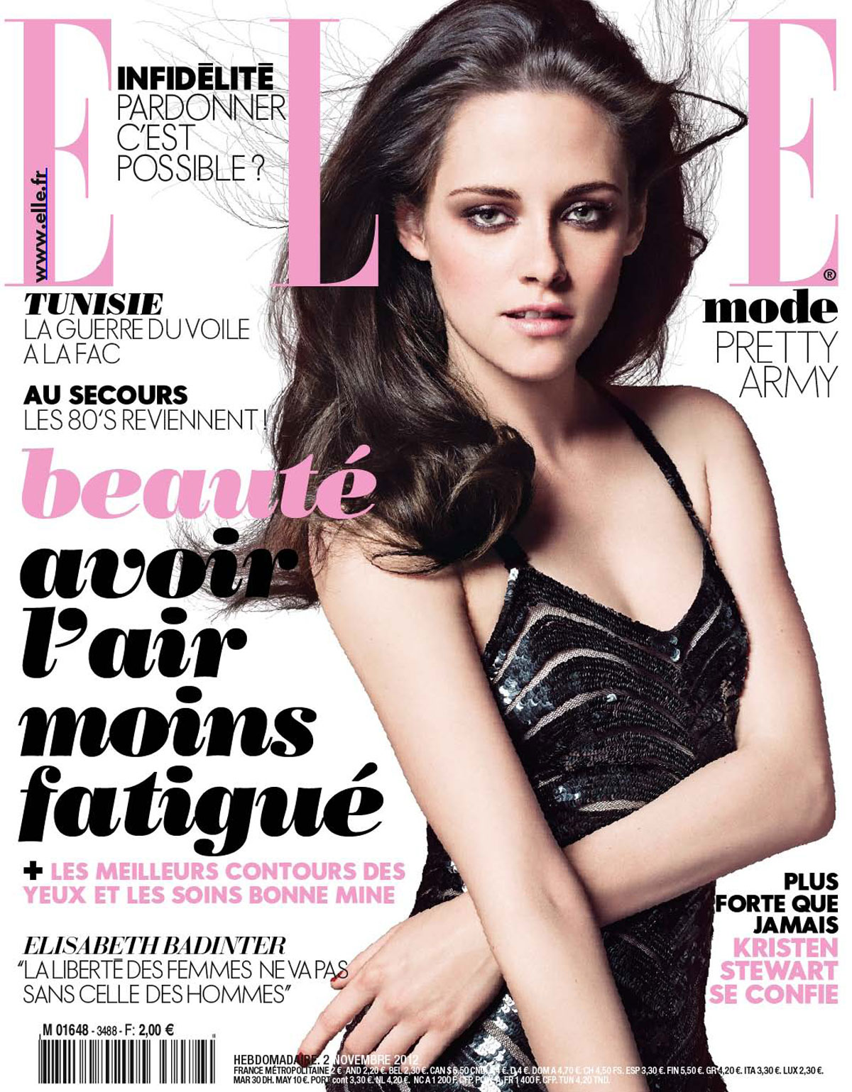 Elle Magazine France February March: KRISTEN STEWART In Elle Magazine, France November 2012