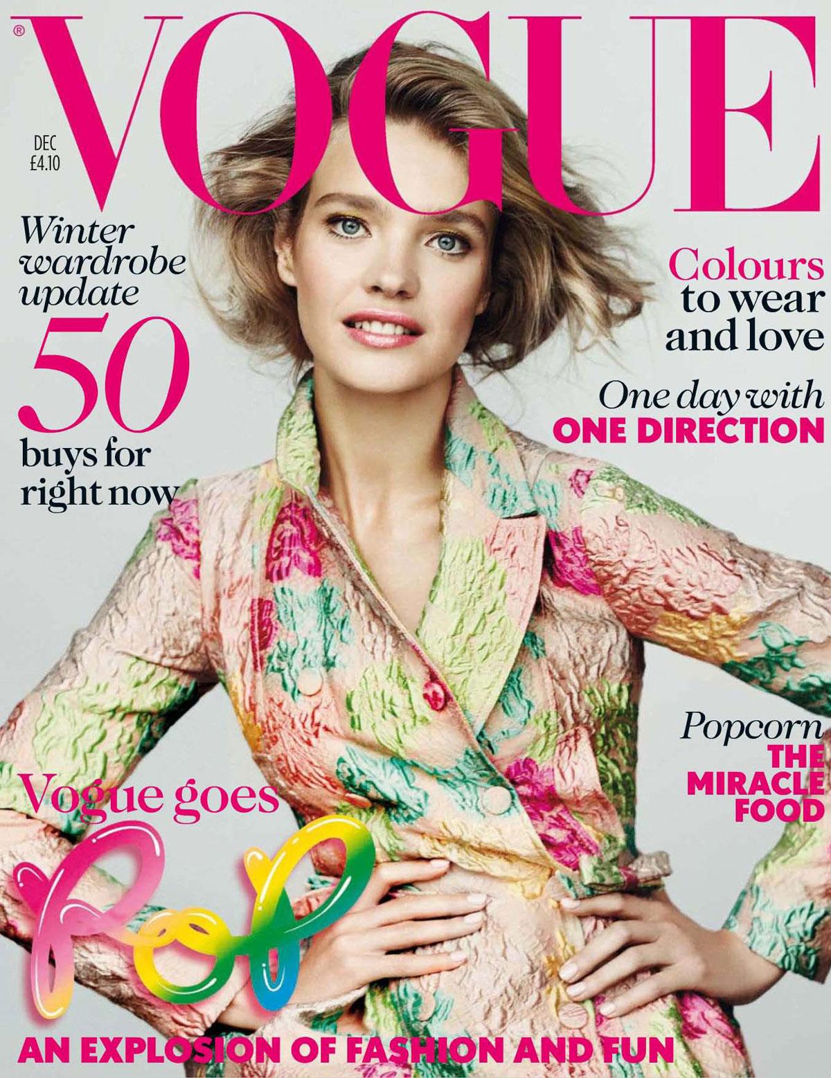 Vogue Magazine Uk May 2015 Issue: NATALIA VODIANOVA In Vogue Magazine, UK December 2012