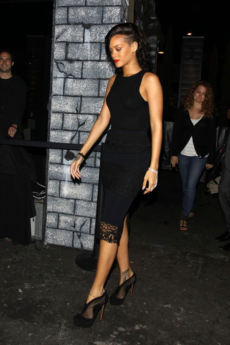 RIHANNA at the West Hollywood Halloween Carnaval in Los Angeles ...
