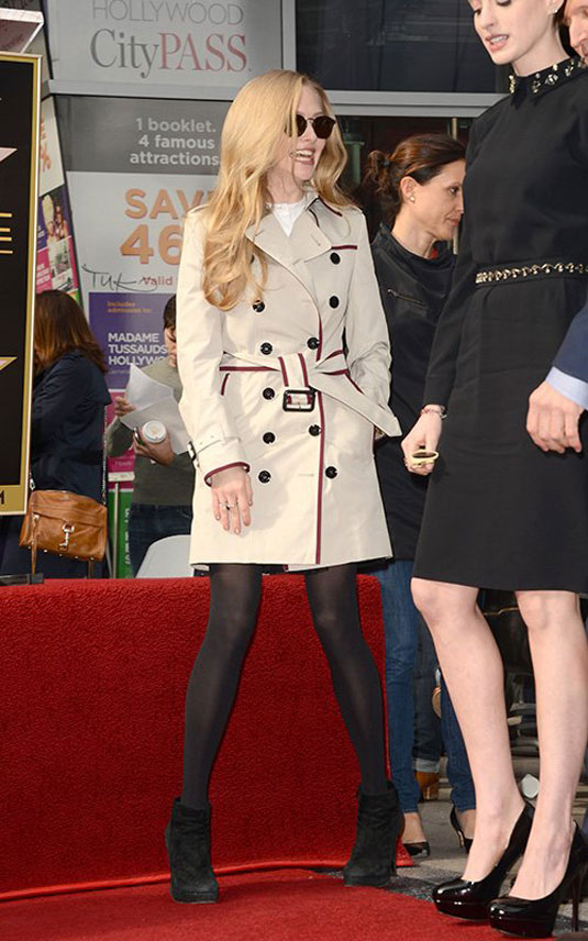 AMANDA SEYFRIED at Hugh Jackman Walk of Fame Ceremony in Hollywood