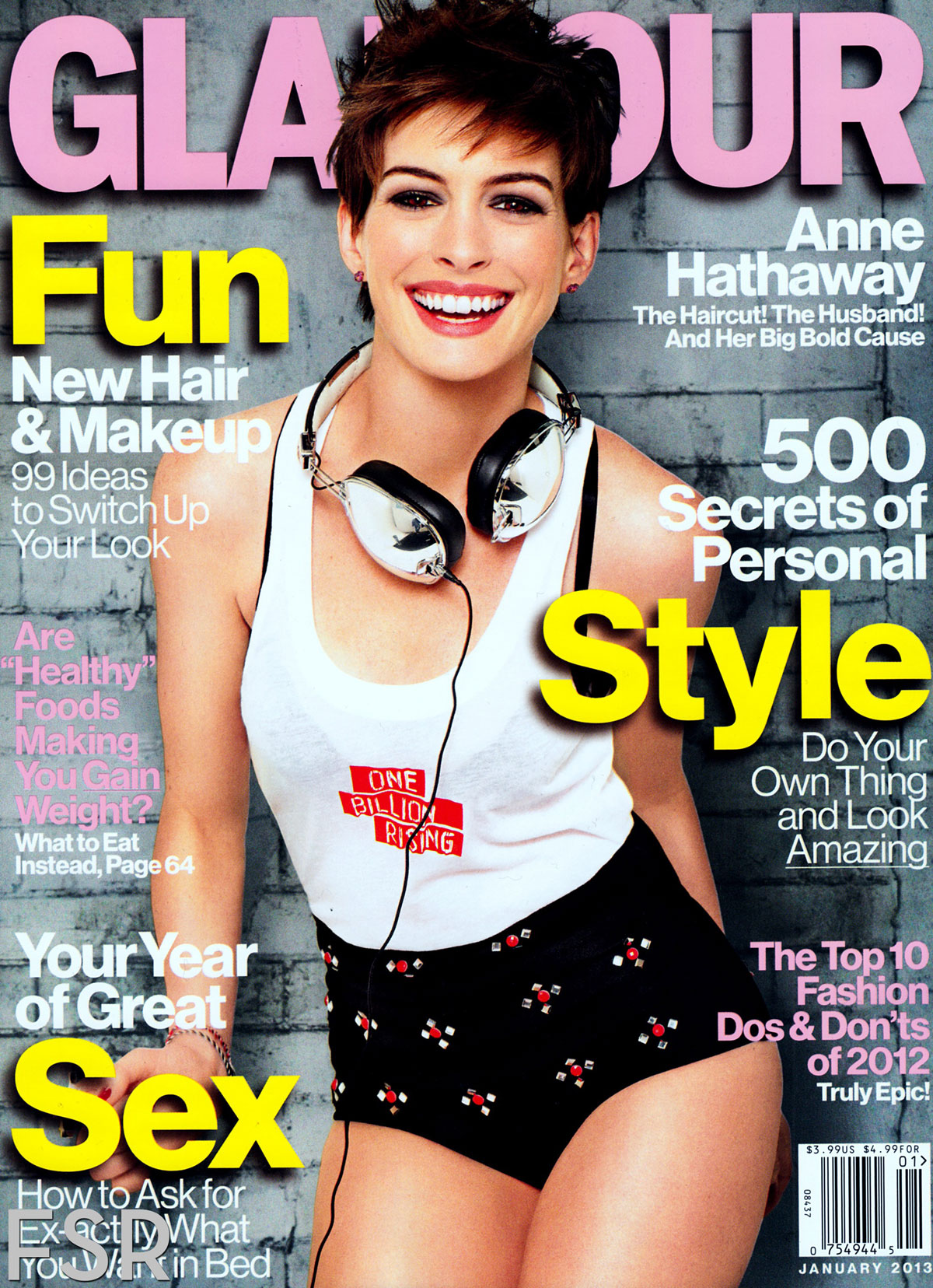 ANNE HATHAWAY In Glamour Magazine, January 2013 Issue