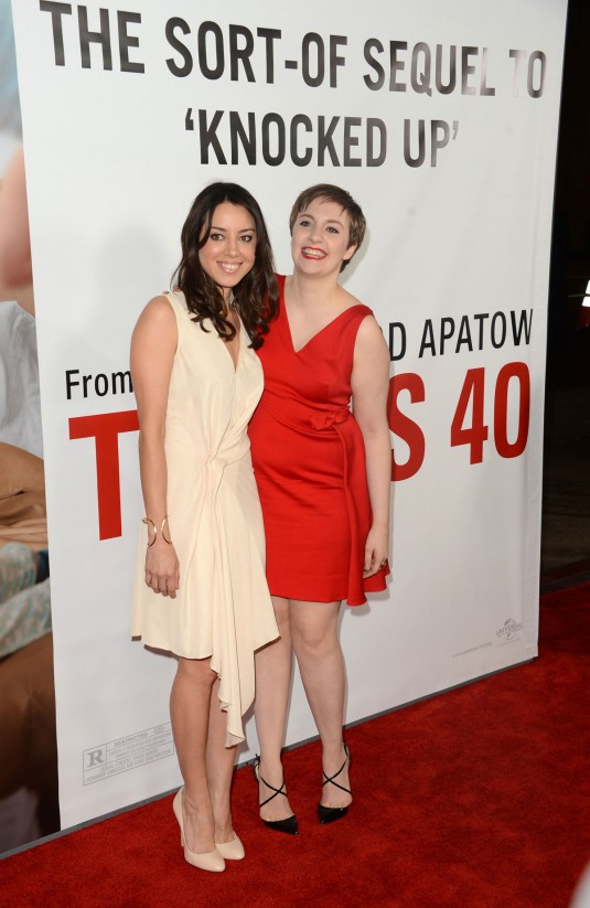 AUBREY PLAZA at This is 40 Premiere