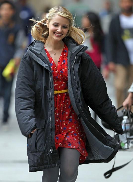 DIANNA AGRON on the Glee Set
