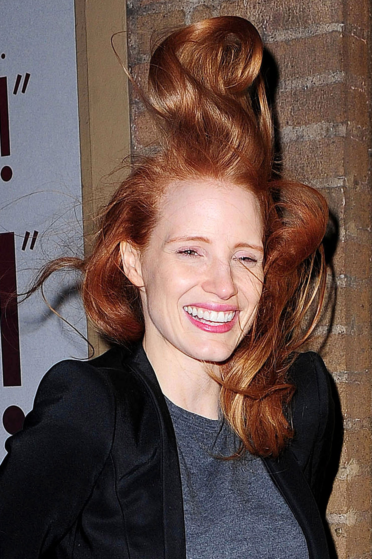 JESSICA CHASTAIN Leaving the Walter Kerr Theater