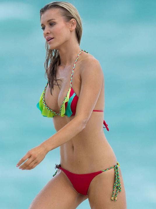 JOANNA KRUPA in Bikini on the Beach in Miami