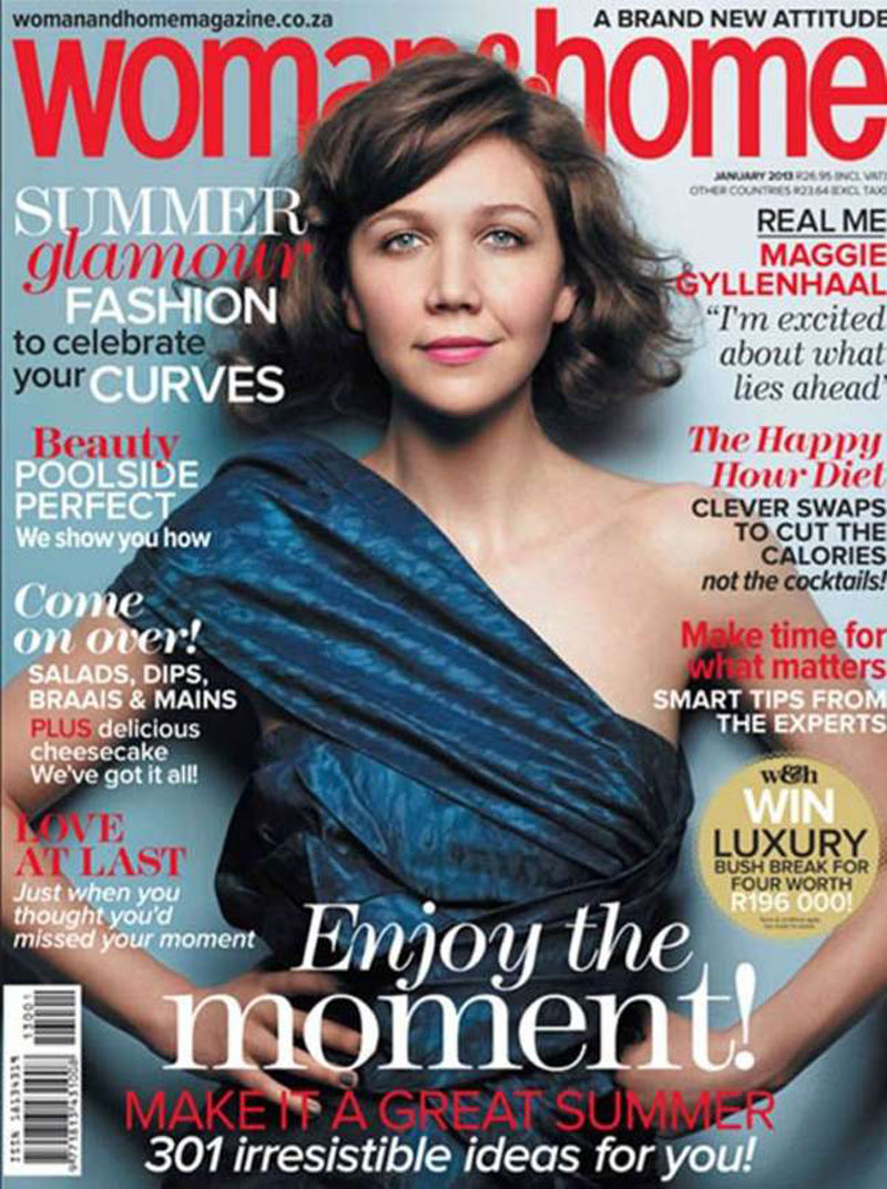 Maggie Gyllenhaal In Woman Home Magazine January 2013