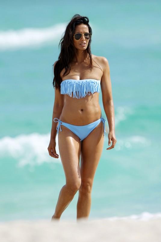 PADMA LAKSHMI in Bikini on the Beach in Miami