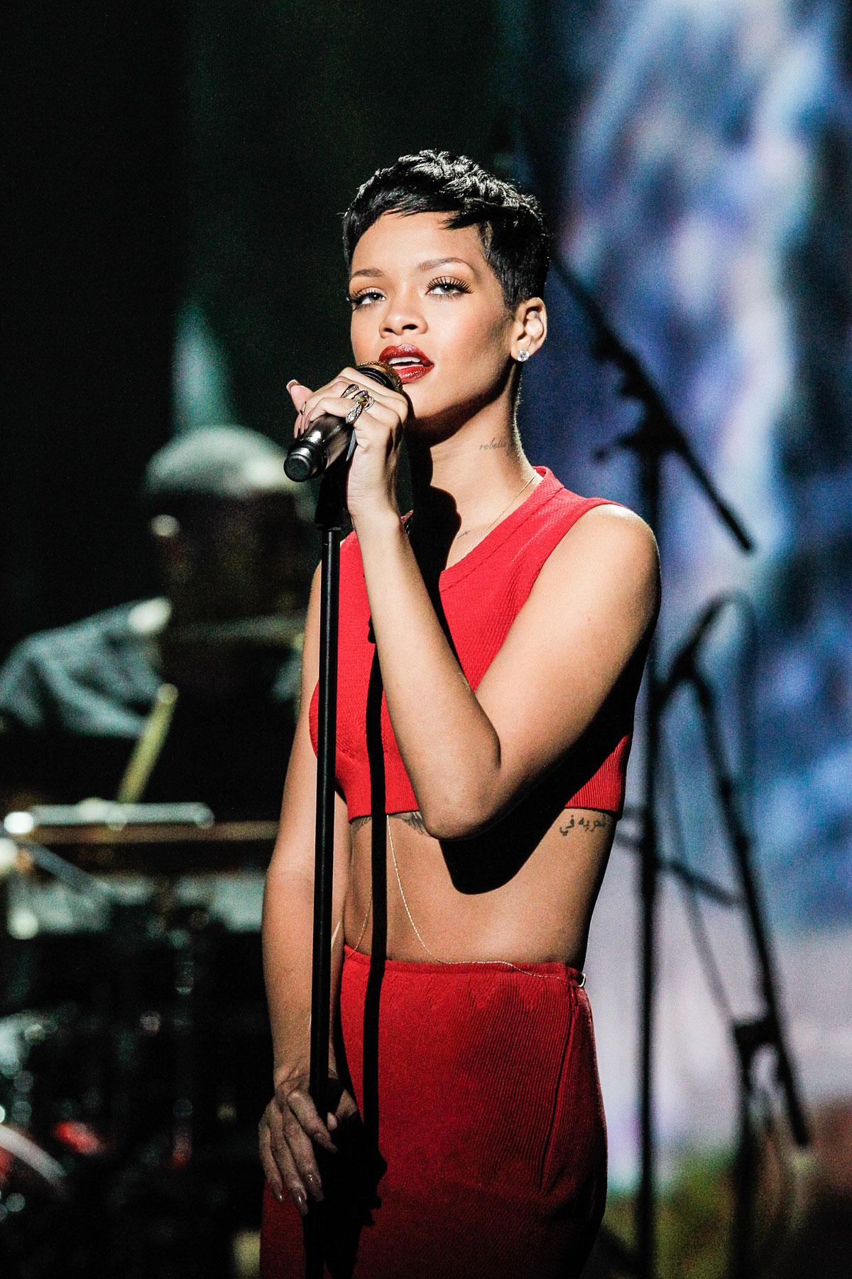 Rihanna At La Chanson De L Annee 2012 Tv Show In Paris