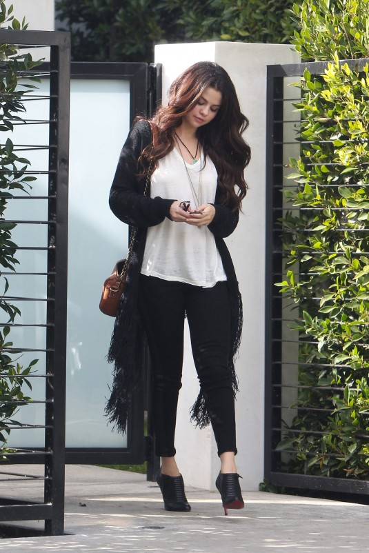 SELENA GOMEZ in West Hollywood