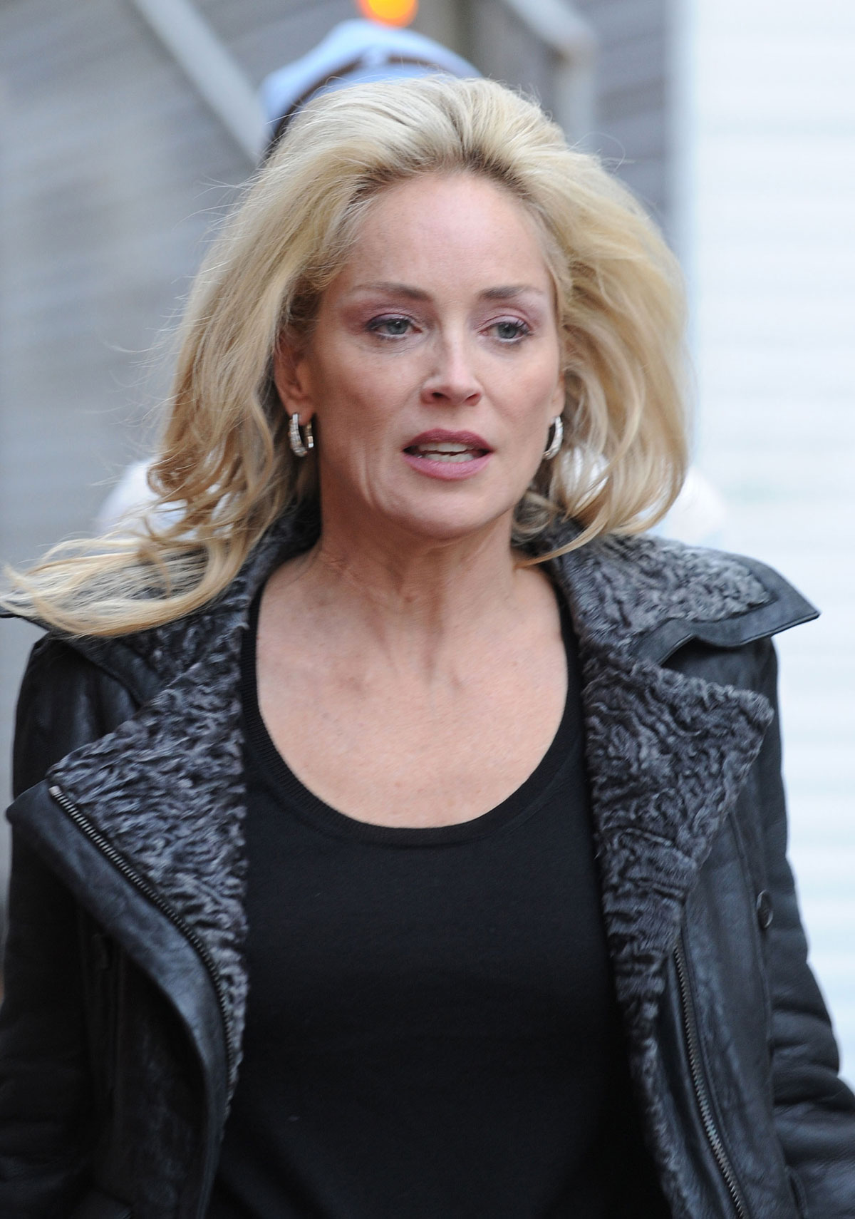 Sharon Stone On The Set Of Fading Gigolo In New York