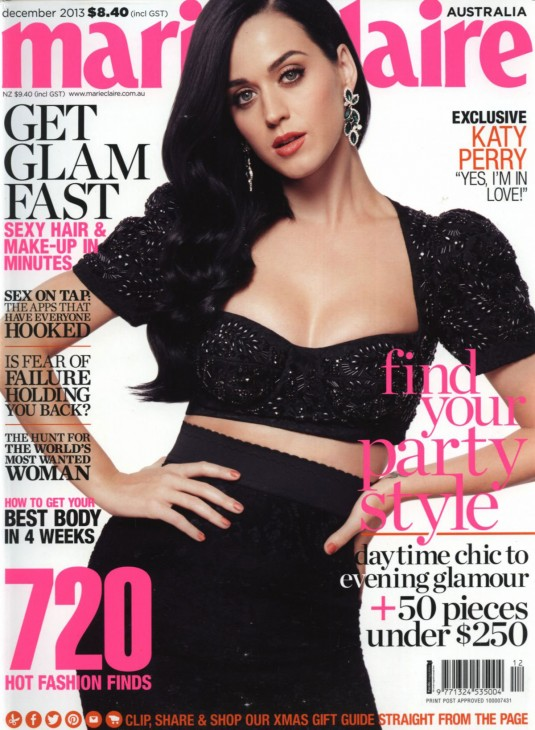KATY PERRY in Marie Claire Magazine