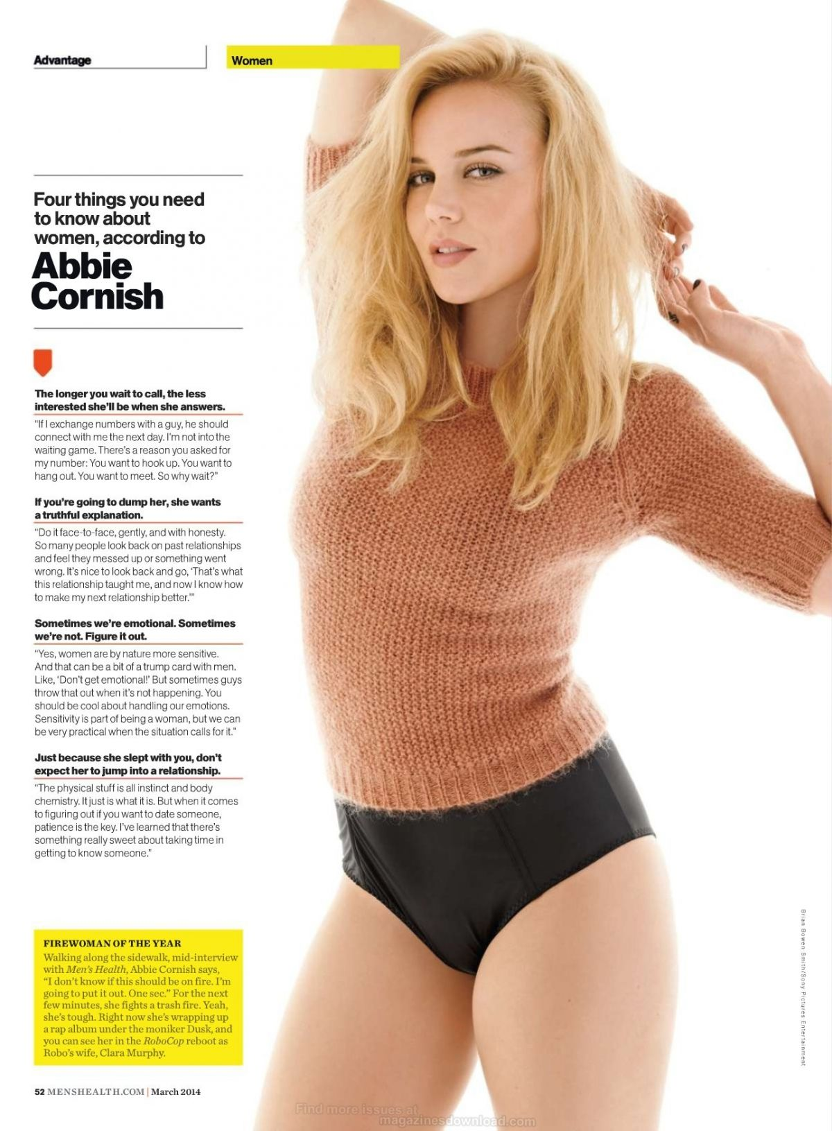 ABBIE CORNISH in Men