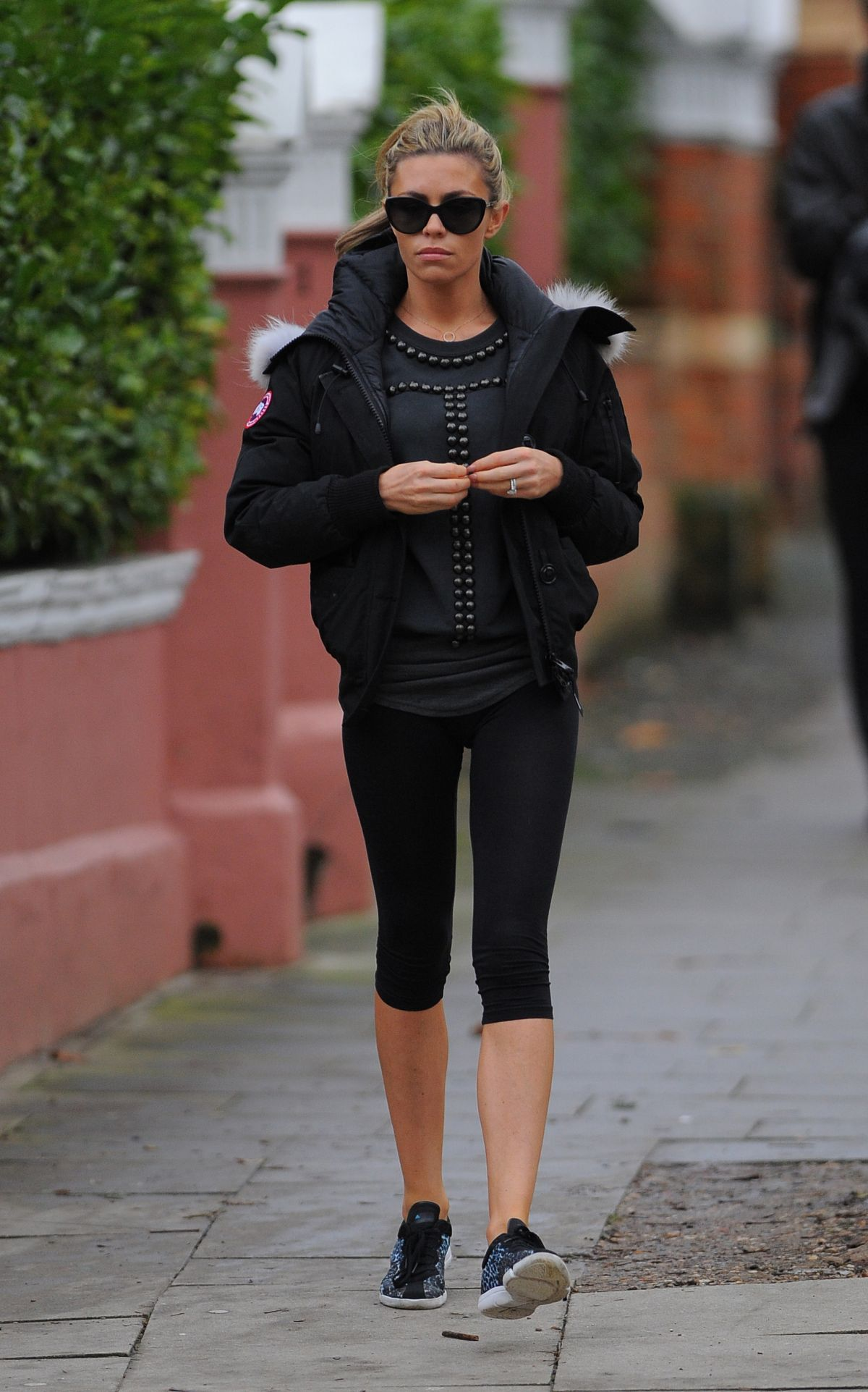 ABIGAIL ABBEY CLANCY in Leggings Out and About  in London