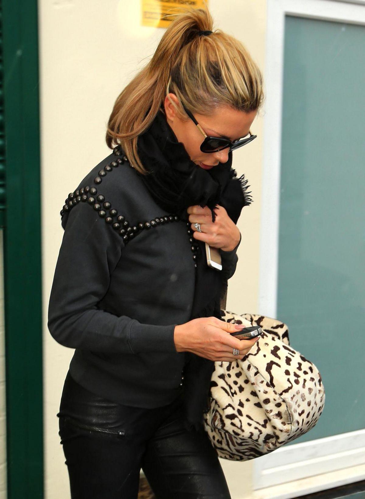 ABIGAIL ABBEY CLANCY Leaving a Beauty Salon in Liverpool