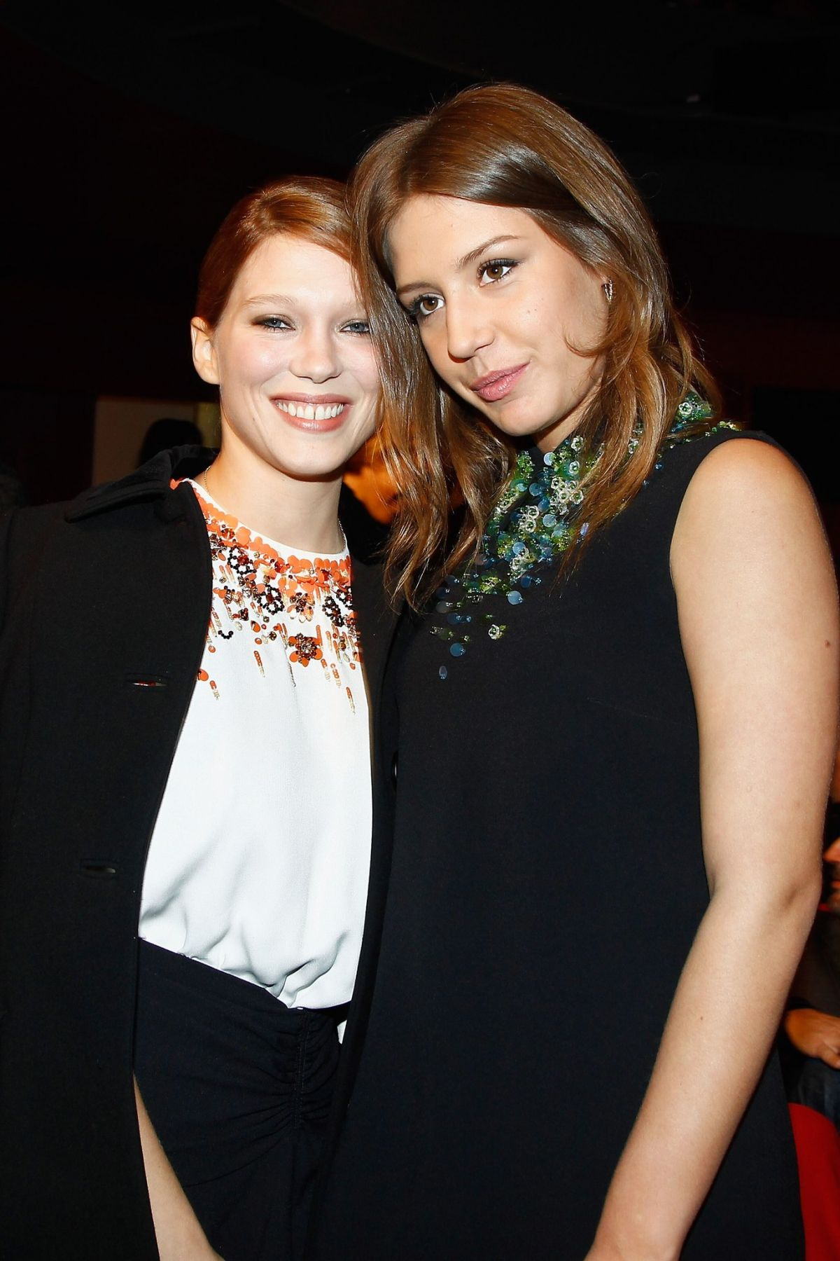 ADELE EXARCHOPOULOS and LEA SEYDOUX at Les Lumieres 2014 Cinema Awards in Paris