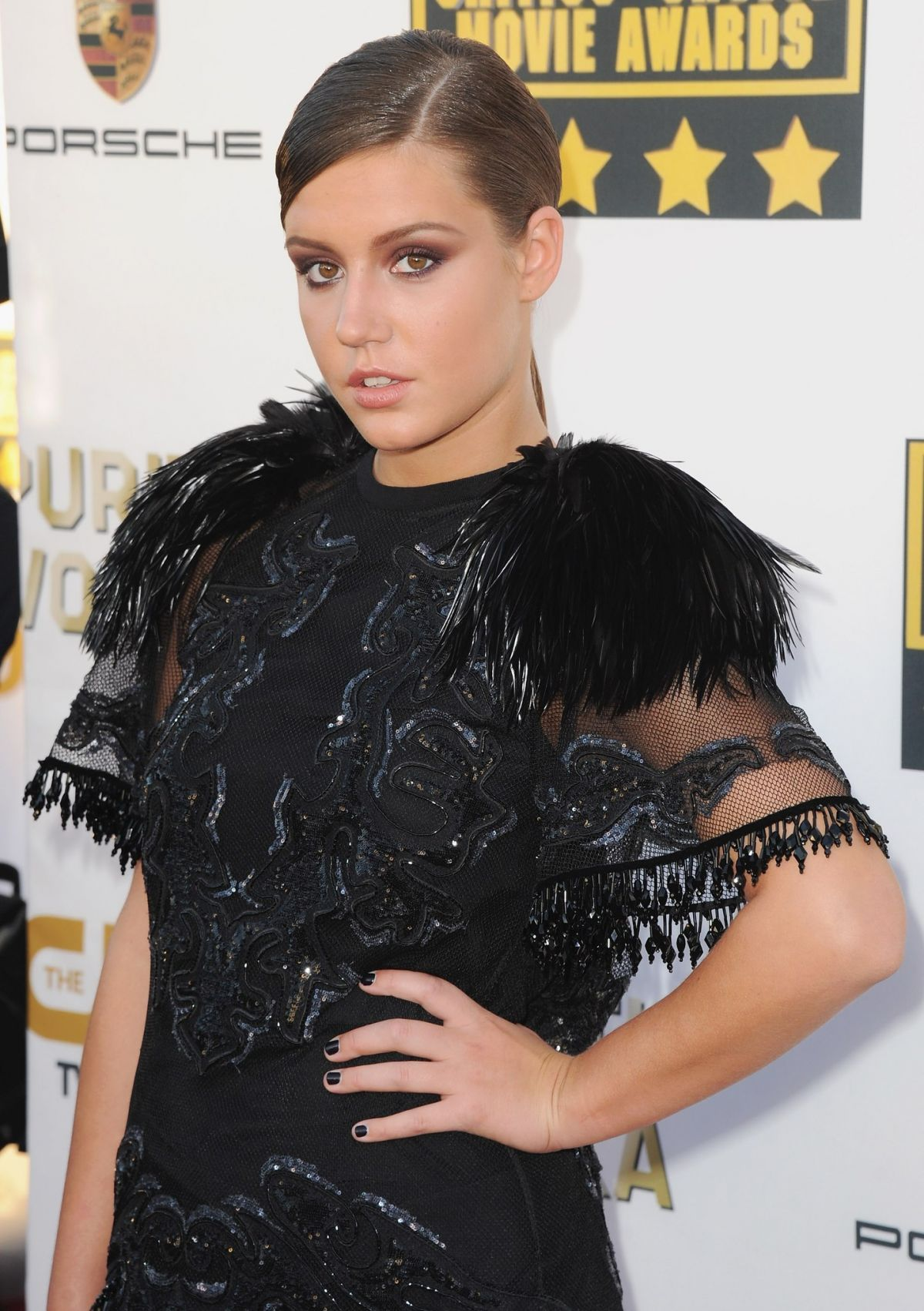 ADELE EXARCHOPOULOS at Critic's Choice Awards in Santa Monica