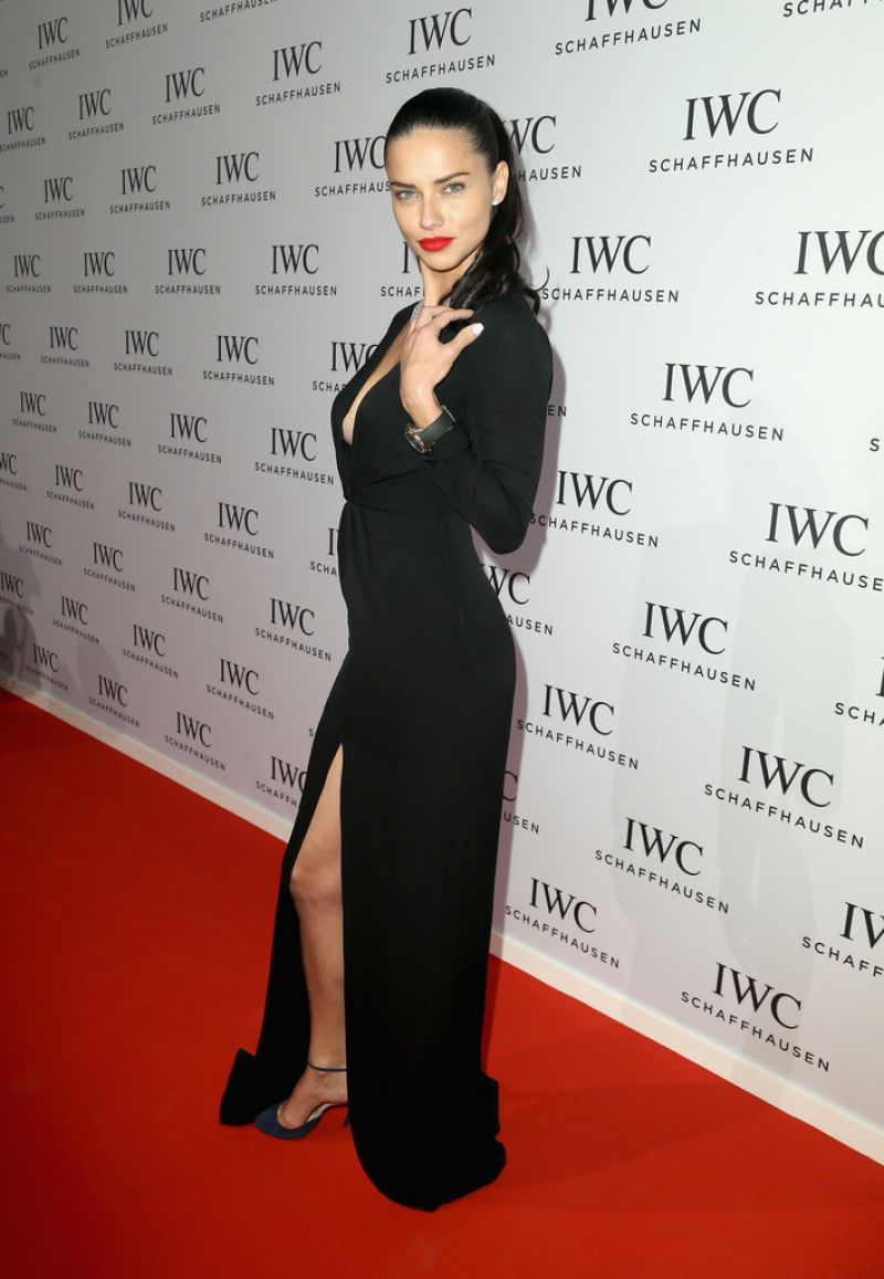ADRIANA LIMA at IWC Schaffhausen Aquatimer Watch Collection Launch in Geneva