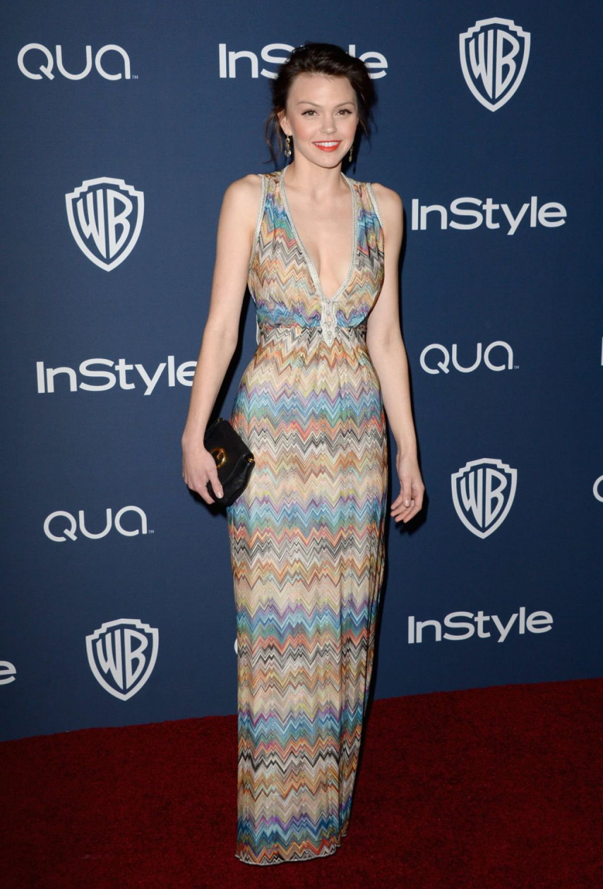 AIMEE TEEGARDEN at Instyle and Warner Bros. Golden Globes Afterparty