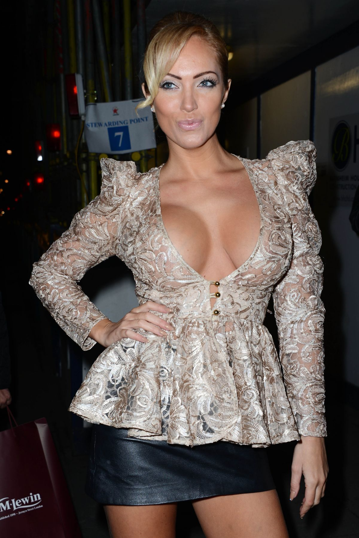 AISLEYNE HORGAN-WALLACE at Nuts Magazine 10th Anniversary Party in London