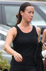 ALANIS MOEISSETTE Leaves a Gym in Brentwood