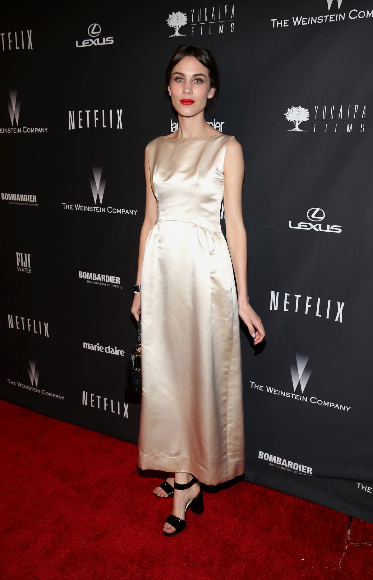 ALEXA CHUNG at The Weinstein Company and Netflix Golden Globe After Party