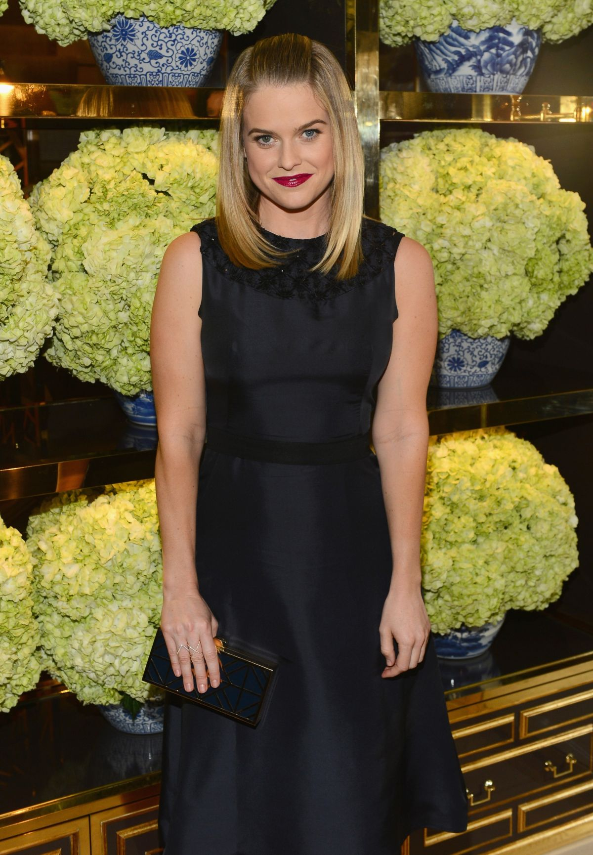 ALICE EVE at Tory Burch Rodeo Drive Flagship Opening in Beverly Hills