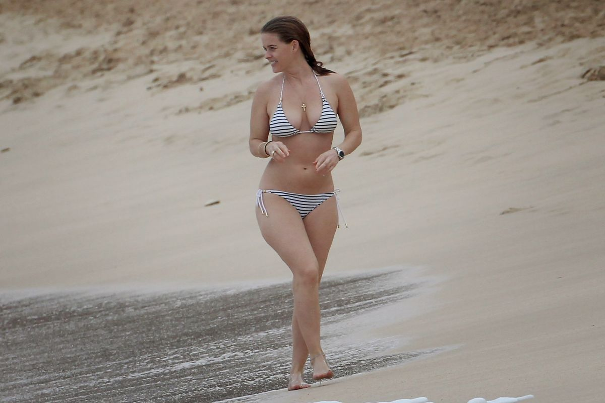 ALICE EVE in Bikini at a Beach in Barbados