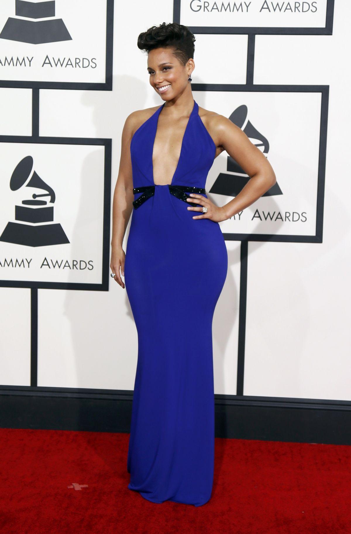 ALICIA KEYS at 2014 Grammy Awards in Los Angeles