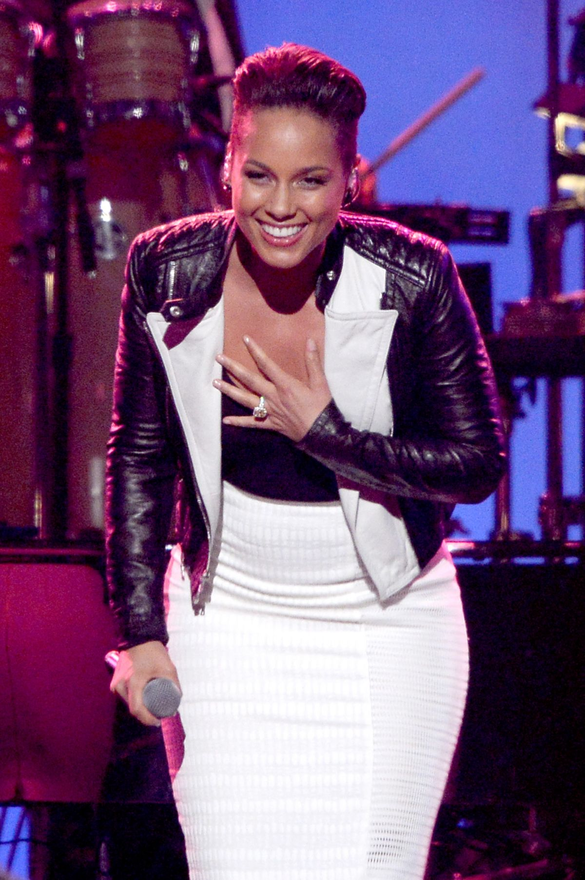 ALICIA KEYS at 2014 Musicares Person of the Year Gala in Los Angeles