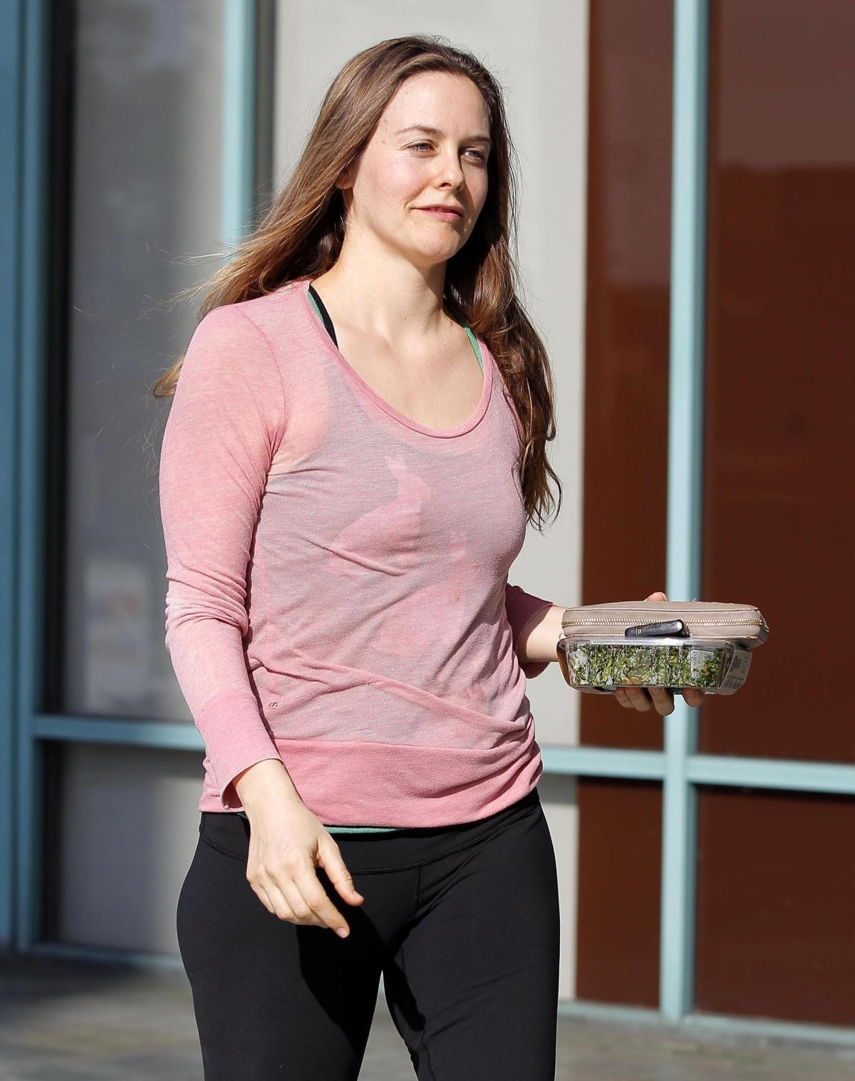 ALICIA SILVERSTONE in Tight Leggings Out and About in Los Angeles