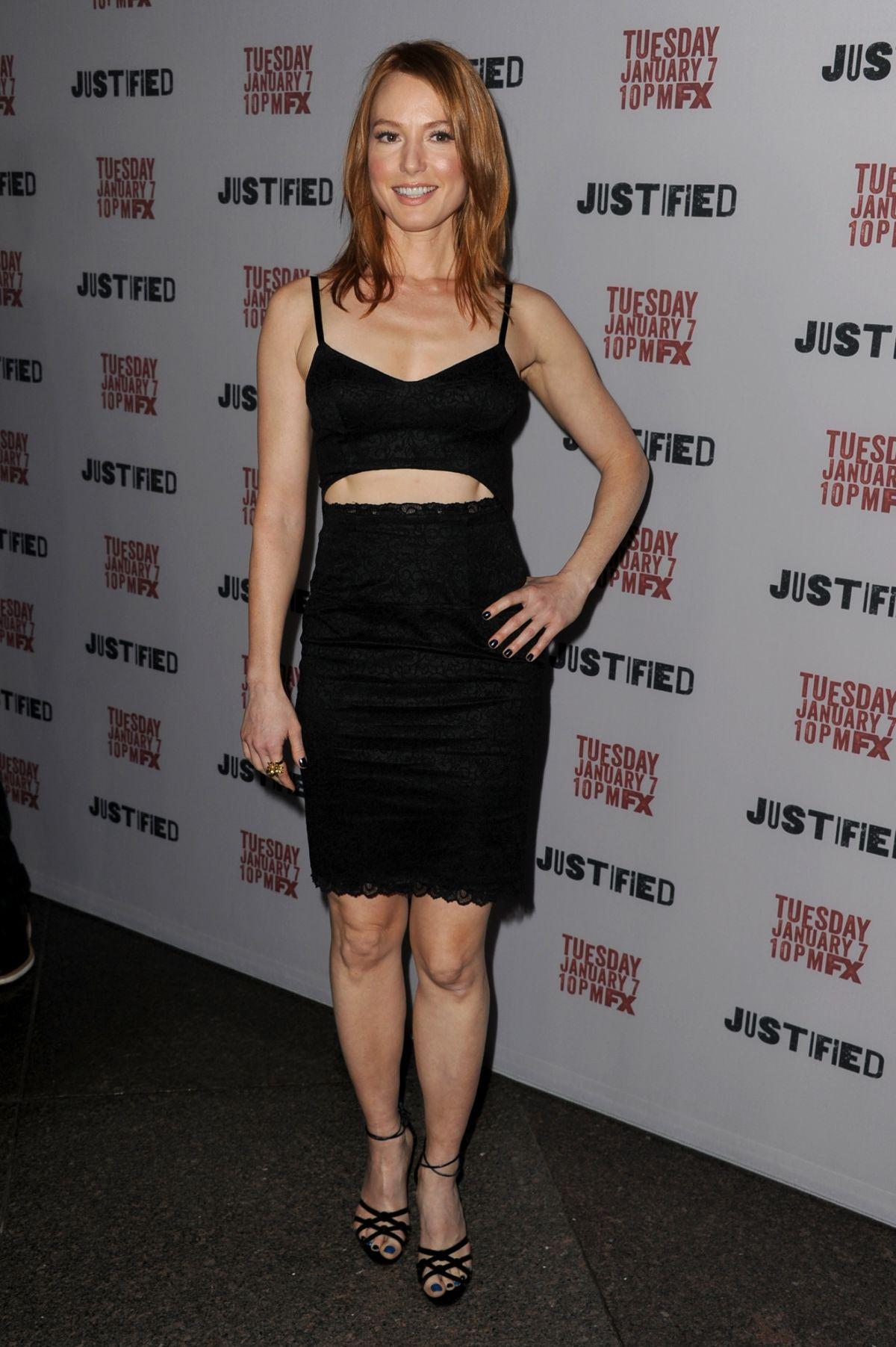 ALICIA WITT at Justified Season 5 Premiere in Los Angeles