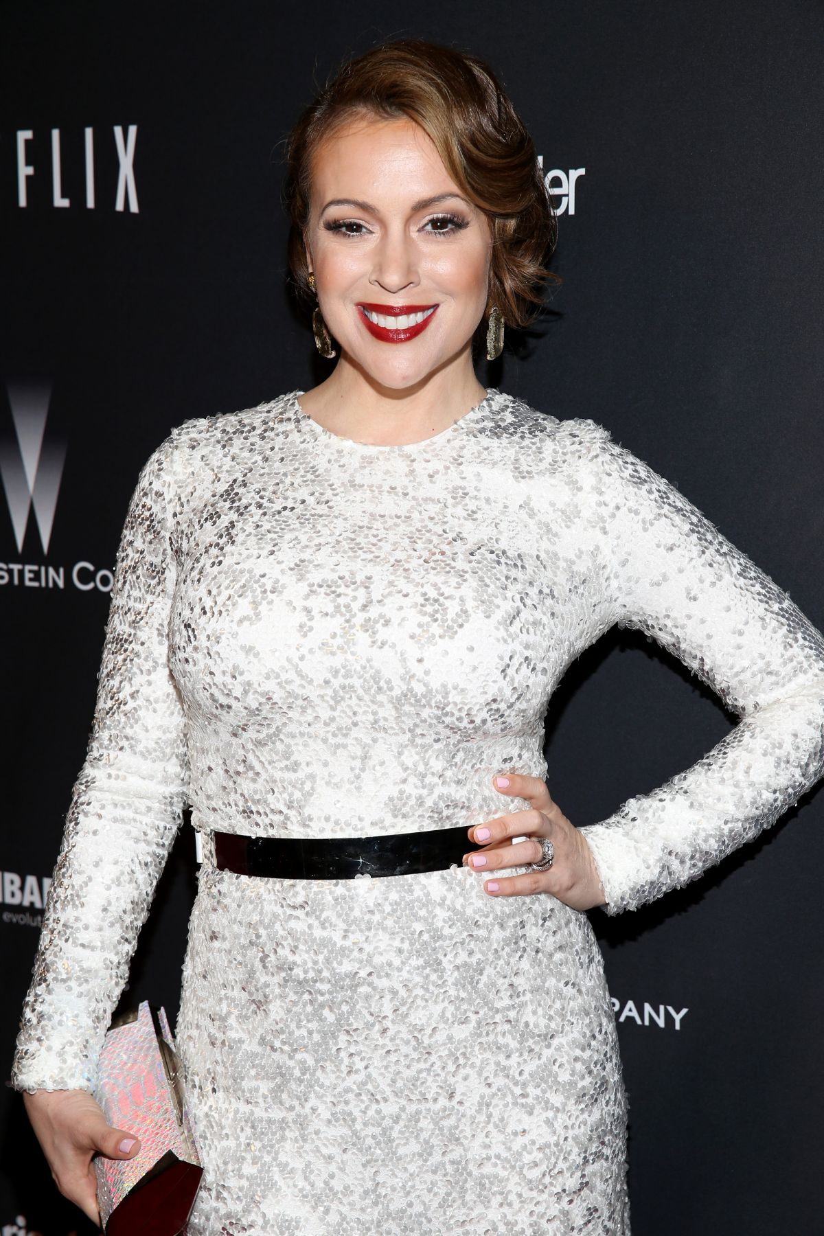 ALYSSA MILANO at The Weinstein Company and Netflix Golden Globe After Party
