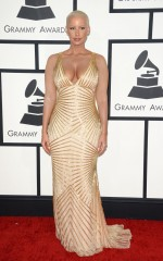 Amber Rose at 2014 Grammy Awards in Los Angeles