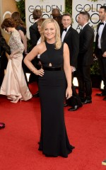 Amy Poehler in Stella McCartney and Charlotte Olympia
