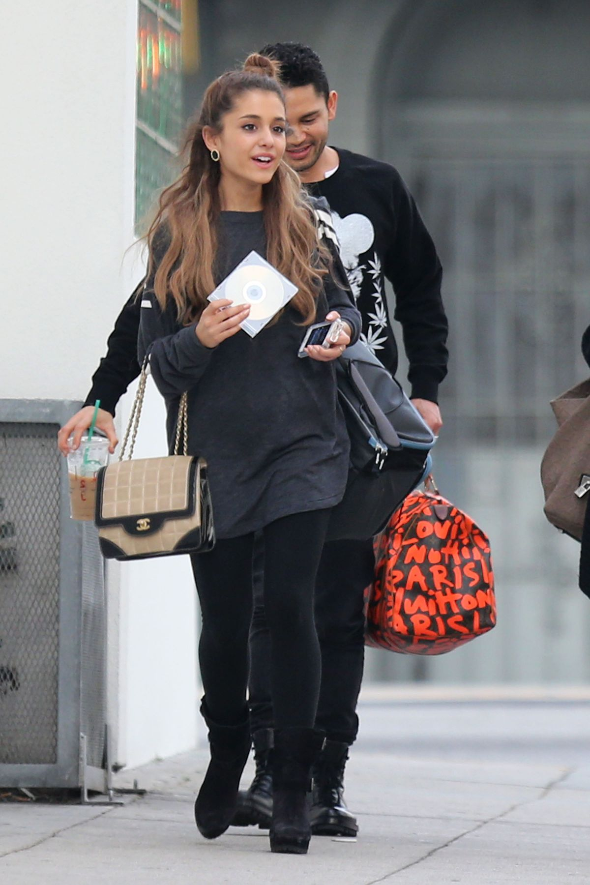 Ariana Grande Leaves A Recording Studio In Hollywood