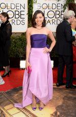 AUBREY PLAZA at 71st Annual Golden Globe Awards