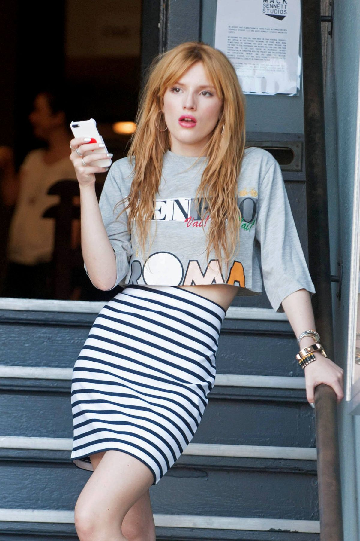 BELLA THORNE at a Photoshoot in Los Angeles