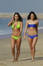 BELLA  TWINS - BRIANNA and NICOLE GARCIA-COLACE in Bikinis on the Beach in Los Angeles