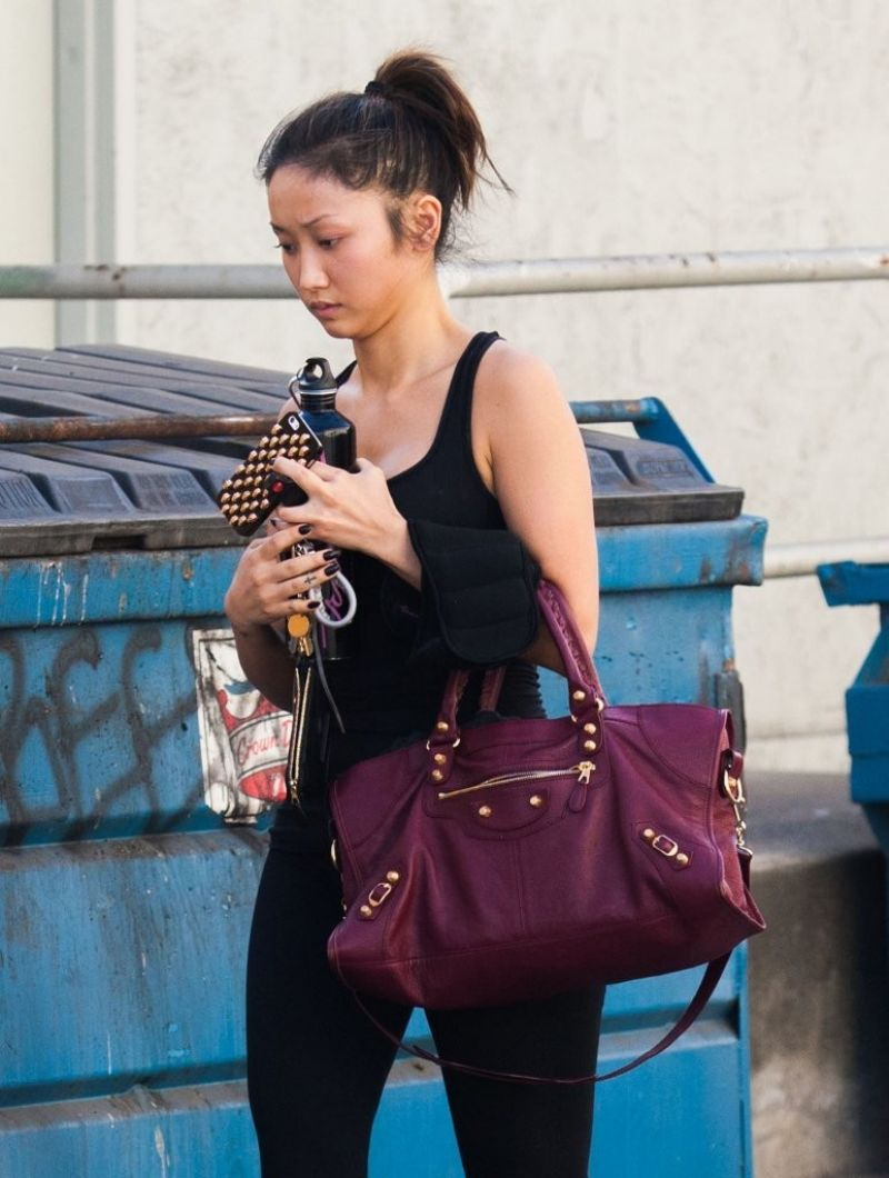BRENDA SONG Heading to a Gym in Studio City
