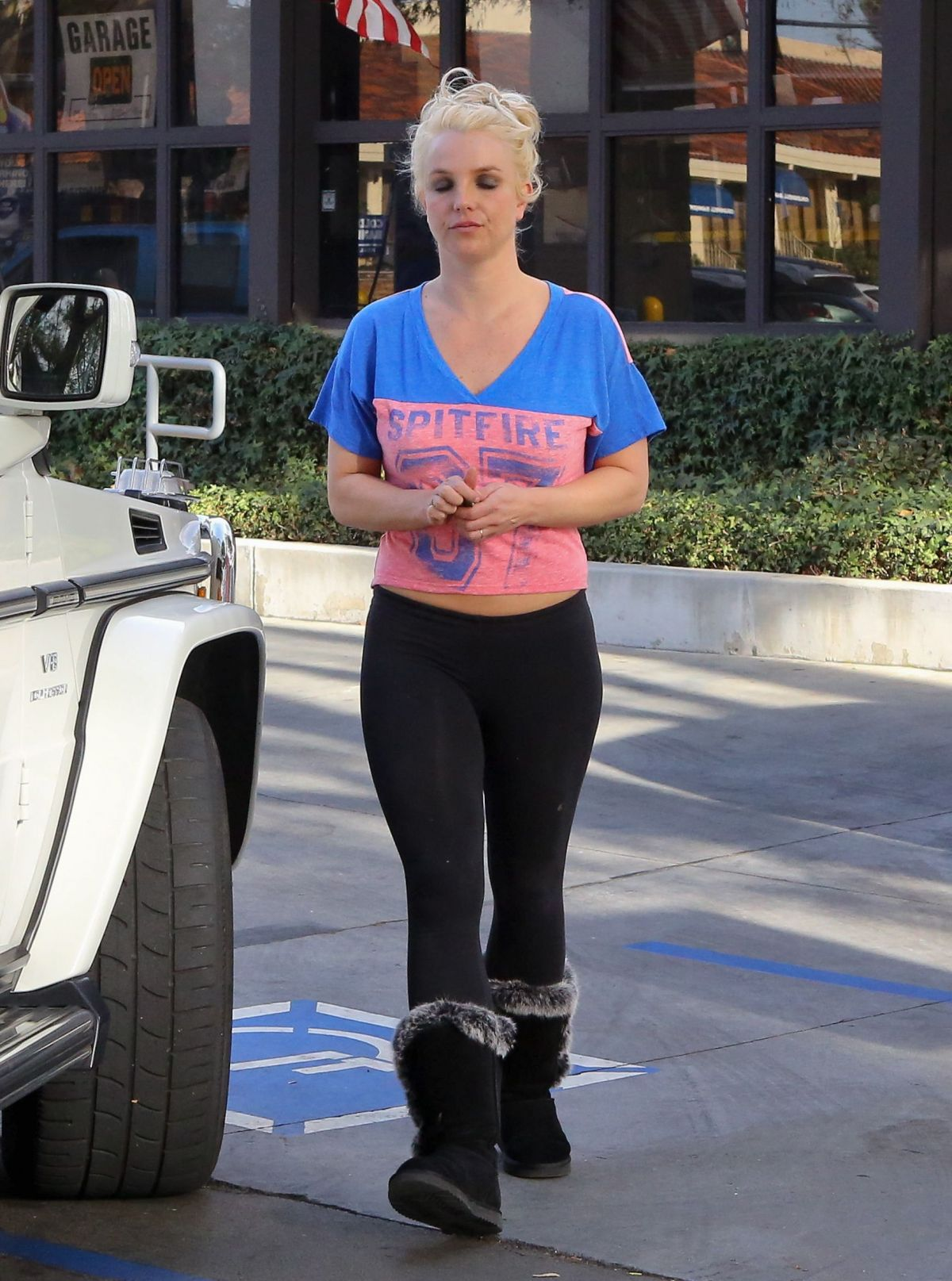 Britney Spears In Tights Out In Los Angeles Hawtcelebs