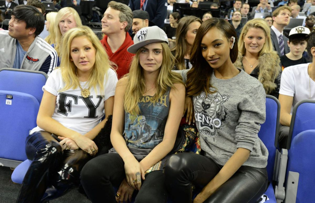Cara Delevingne At Nets Hawks Game In London Hawtcelebs