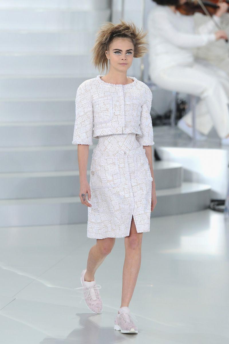 Cara Delevingne Chanel Fashion Show In Paris Hawtcelebs