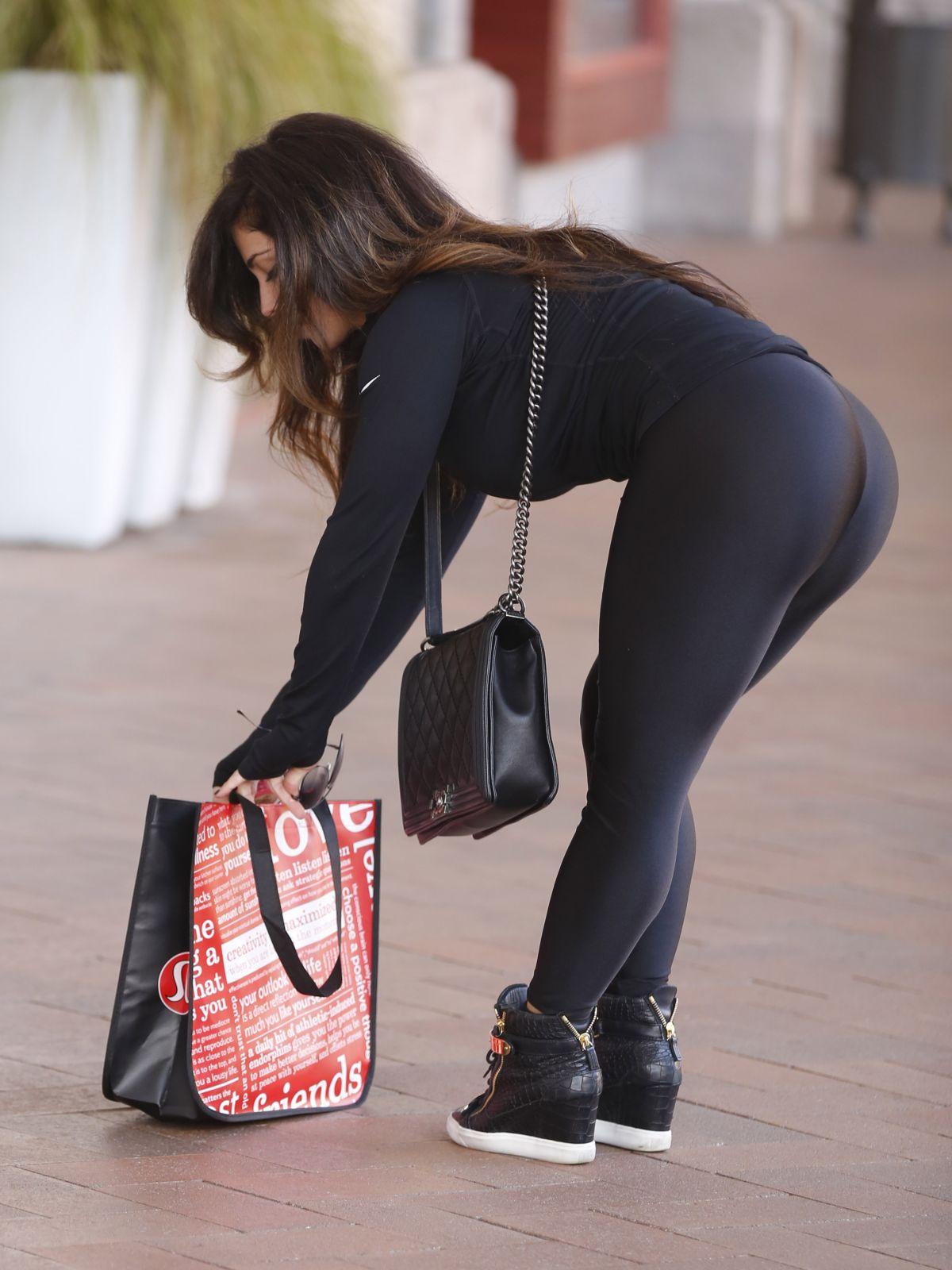 CARMEN ORTEGA in Tights Out Shopping in Orange County