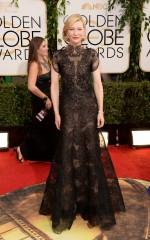 Cate Blanchett in Armani Prive, Jimmy Choo and Chopard