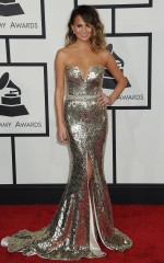 Chrissy Teigen at 2014 Grammy Awards in Los Angeles