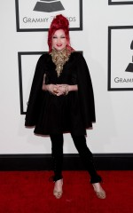Cyndi Lauper at 2014 Grammy Awards in Los Angeles