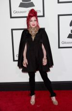 CINDY LAUPER at 2014 Grammy Awards in Los Angeles